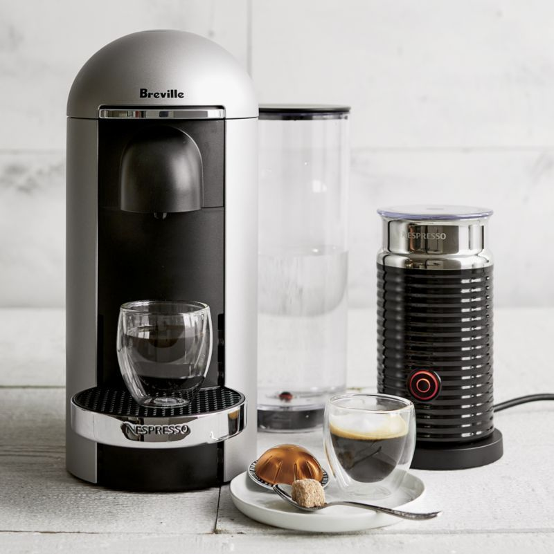 Nespresso By Breville Vertuo Deluxe Plus Silver Coffee Maker Bundle Reviews Crate And Barrel Coffee Coffee Mugs Coffee Maker