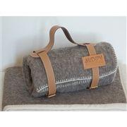 Couverture bébé grise en haute laine des Pyrénées 195+- midipy ...