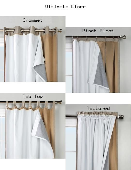 Ultimate Thermalogic Blackout Curtain Liner Insulated Curtains