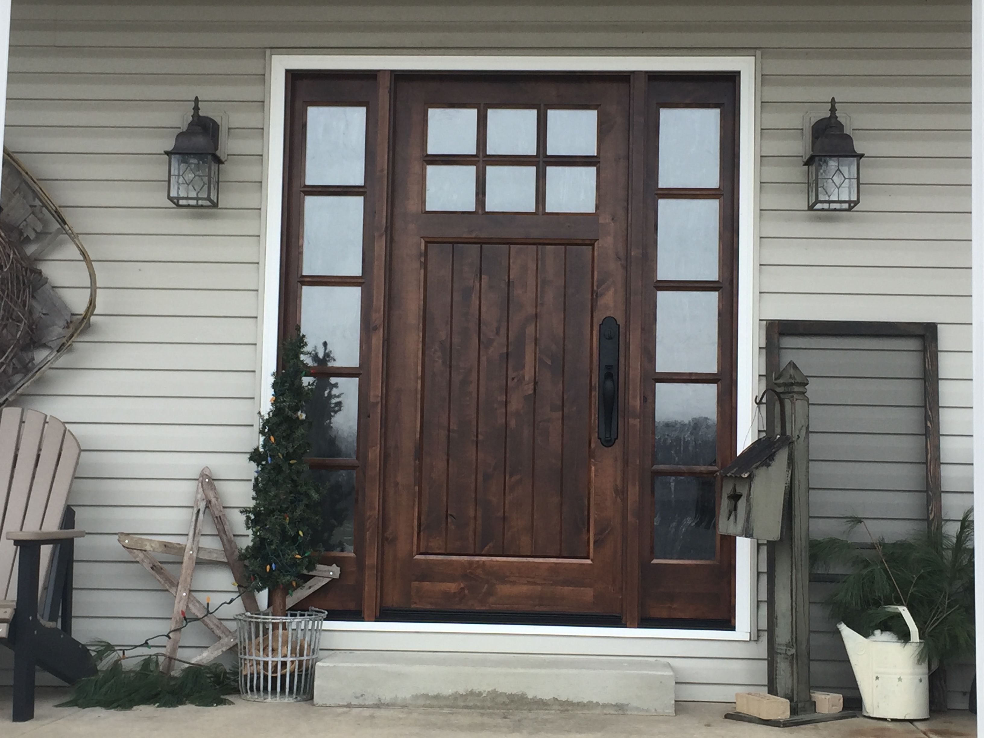 Our new front door knotty alder with seedy glass its my dream our new front door knotty alder with seedy glass its my dream come true rubansaba