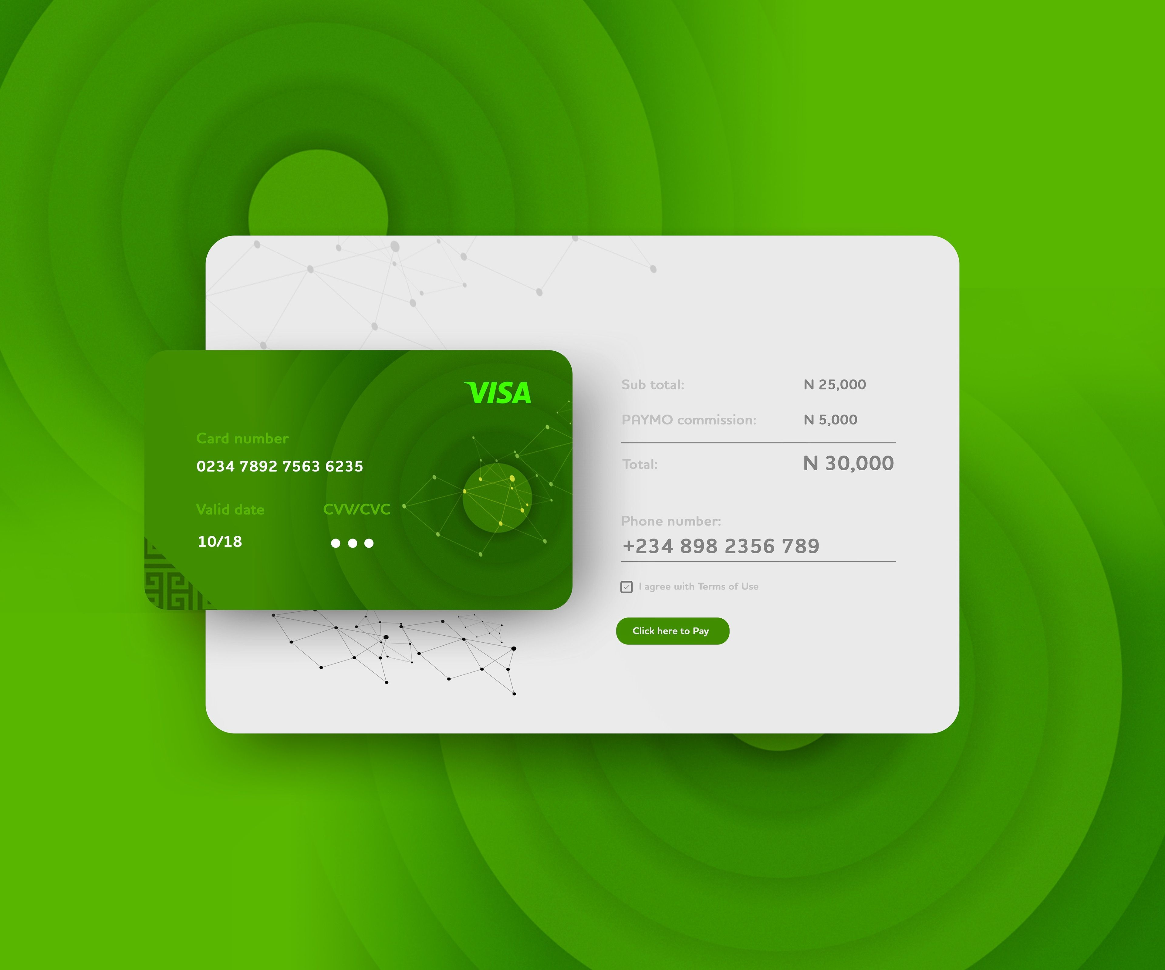 Payment page Web design trends