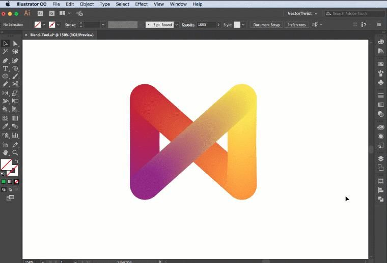 How To Use The Blend Tool In Adobe Illustrator Cc Graphic Design Tutorials Blend Tool Graphic Design Tools