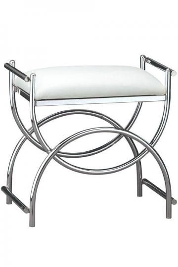 Curve Chrome Vanity Bench Size 19 5 Quot Hx20 5 Quot W Color Plated