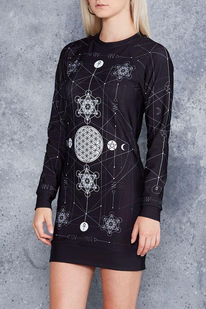 8a8a2696035 Sacred Geometry Sweater Dress - Limited. Sacred Geometry Sweater Dress  Black Milk ...