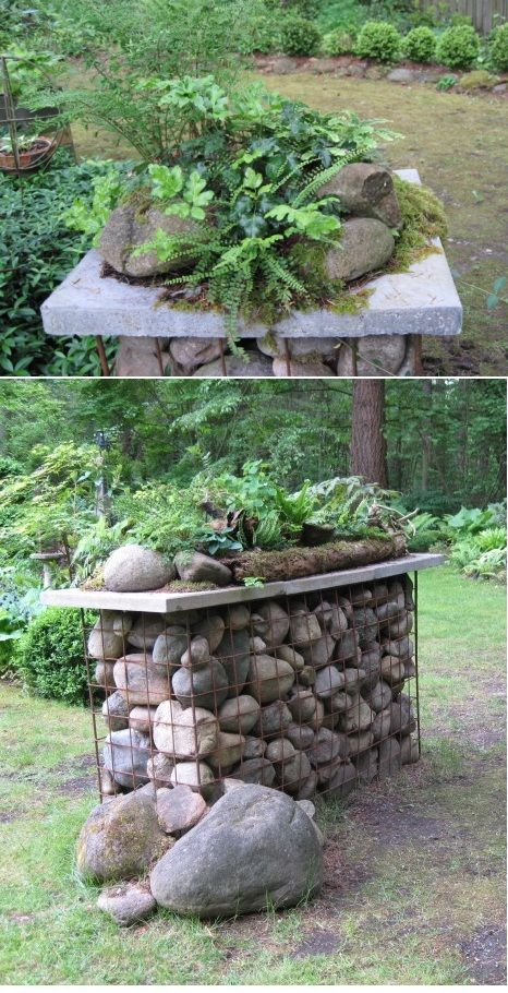 Herb Garden Design Examples gabion used a base for garden arrangement http://www.gabion1