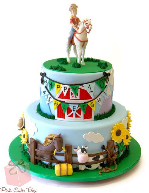 Western Themed Birthday Cake Birthday Cakes Birthday Cakes