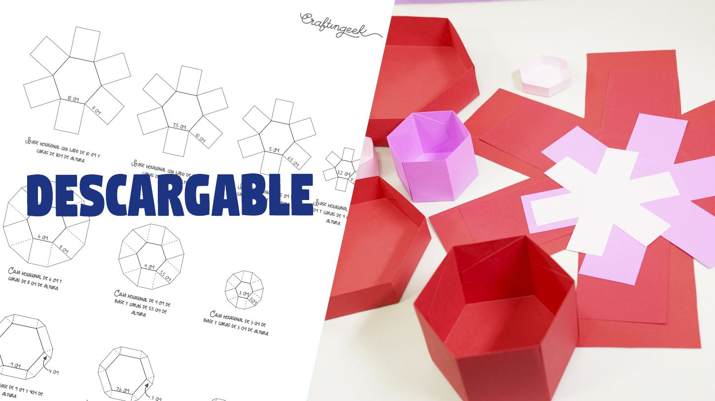 Guía De Medidas Caja Sorpresa Hexagonal Craftingeek Como Hacer Cajas Decorativas Cajitas Sorpresa Cajas