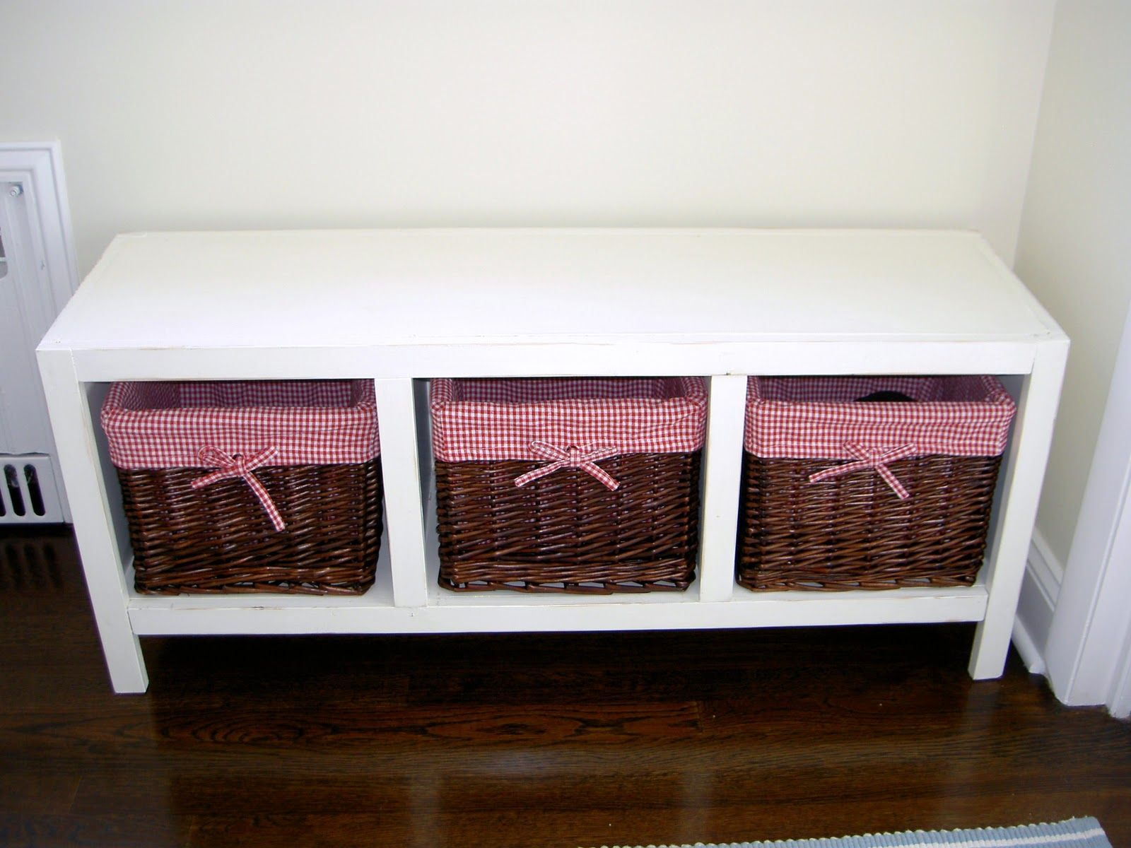 51++ reference of white bench with storage baskets in 2020