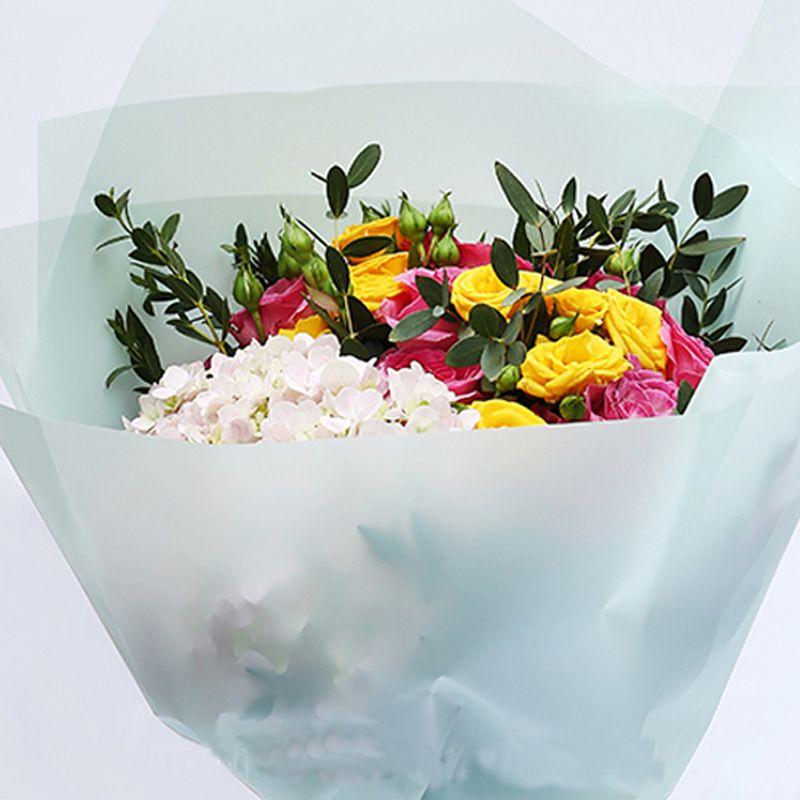 10 pieces soft color fog papers package floral bouquet