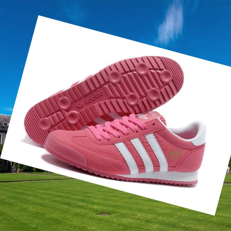 new product daa32 9d31e Adidas Dragon Womens Shoes White Pink,HOT SALE!