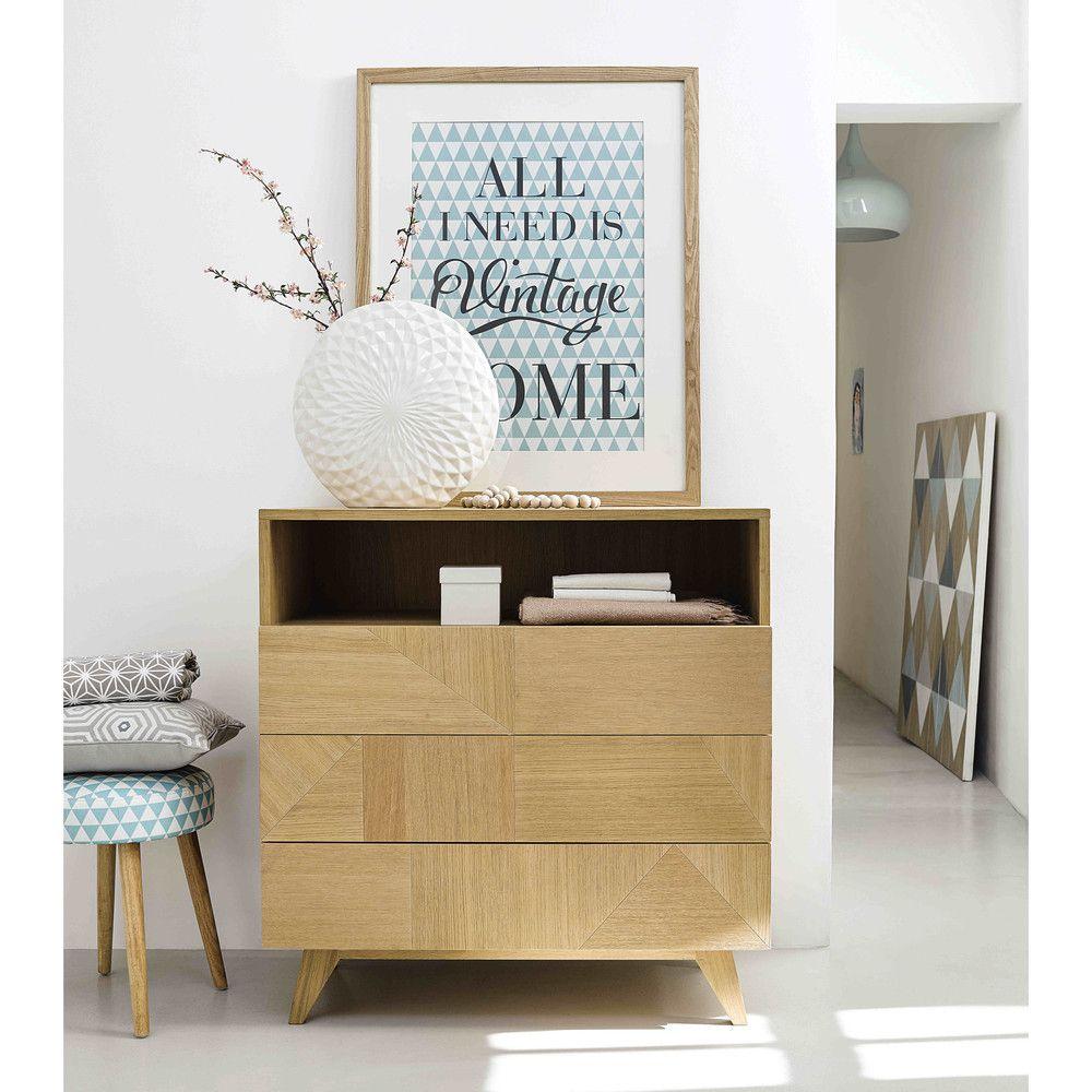 commode en bois l 90 cm origami maisons du monde home. Black Bedroom Furniture Sets. Home Design Ideas