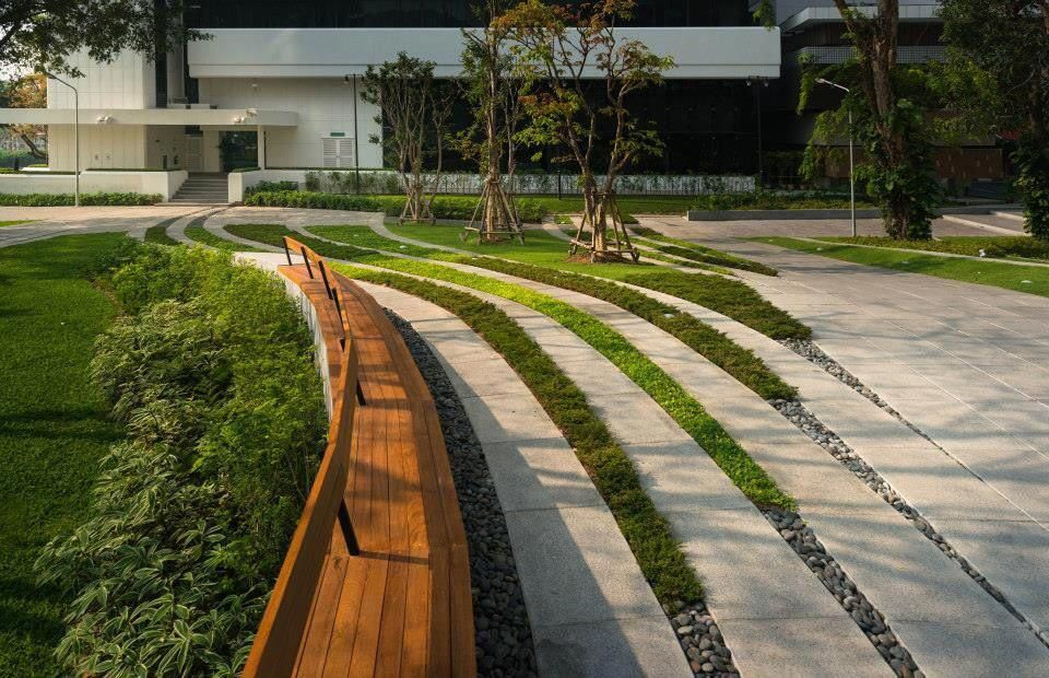 Landscape design for SCG Headquarter, Bangkok, Thailand