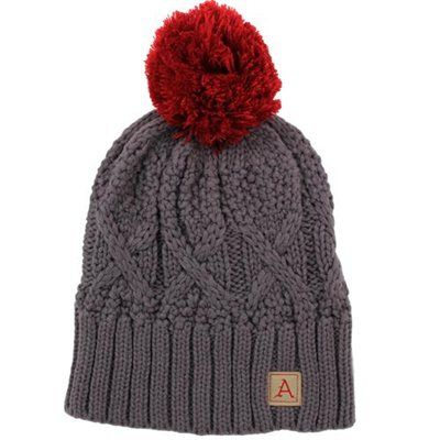 5fe119ef51c Nike Arkansas Razorbacks Ladies Cable Knit Pom-Pom Beanie - Charcoal ...