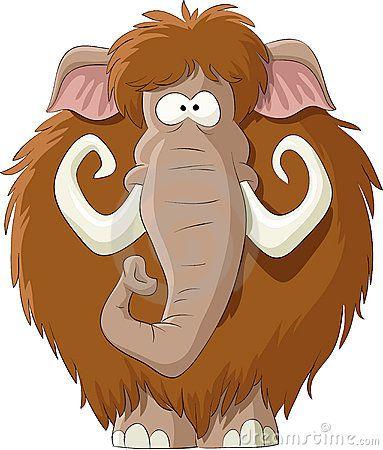 Mammoth Cartoon Animals Animal Vector Vector Animals