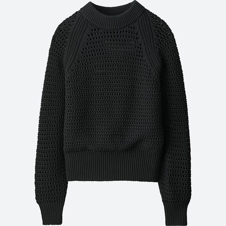 WOMEN U MESH OVERSIZED JUMPER  63b27c0b2