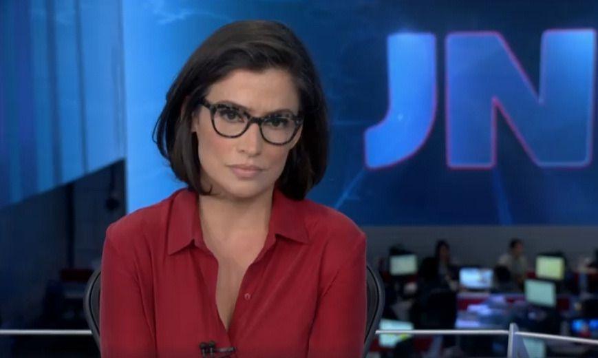 O charme do JNPor mais difícil que seja a notícia, a jornalista Renata  Vasconcellos está 323faae3b4