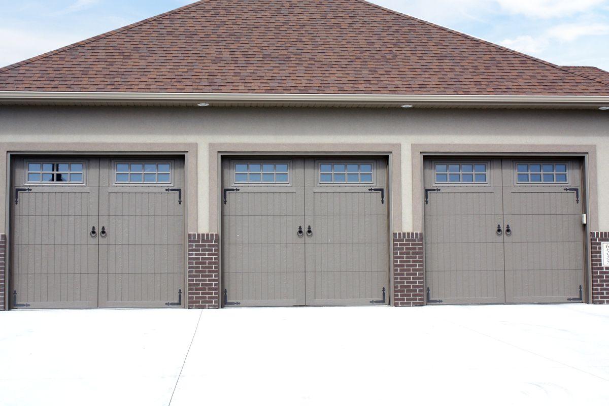 Smooth V Groove Overlay Residential Garage Door Garage Doors