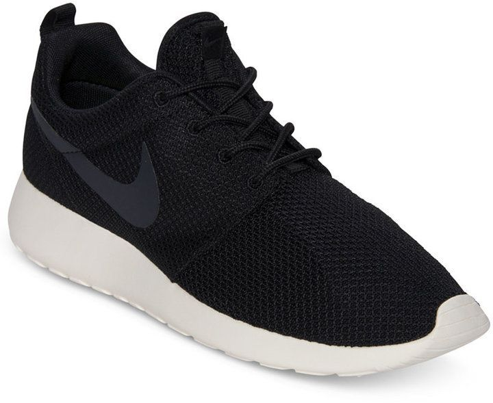 Nike Casual Hombres Roshe Run Casual Nike Zapatillas De Finish Line Negro 8 adcbd2