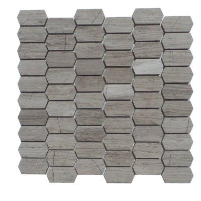 Mulia Tile Honeycomb Honed 1 X 2 Marble Mosaic Tile Color Escarpment Light Marble Mosaic Mosaic Tiles Stone Mosaic Tile