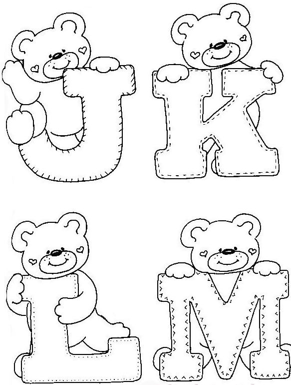 4 Jpg 583 769 Com Imagens Molde Alfabeto Alfabeto Bordado