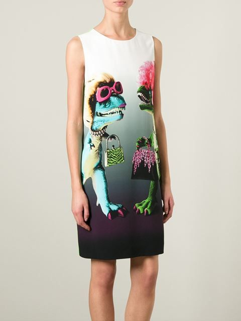 Moschino Cheap & Chic Dinosaur Shift -  I love the madness, drama and silliness of this dress, and it even has a lime green back! Love it!