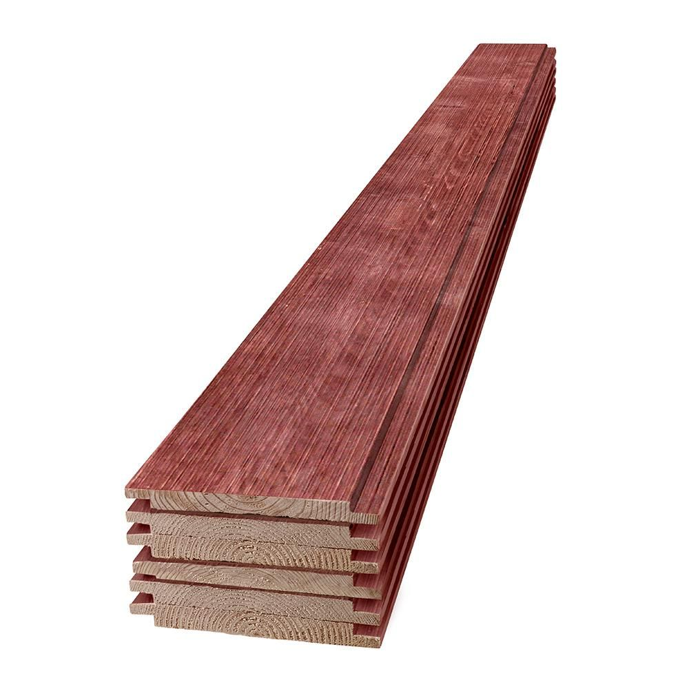 UFP-Edge 1 in  x 8 in  x 6 ft  Barn Wood Red Shiplap Pine