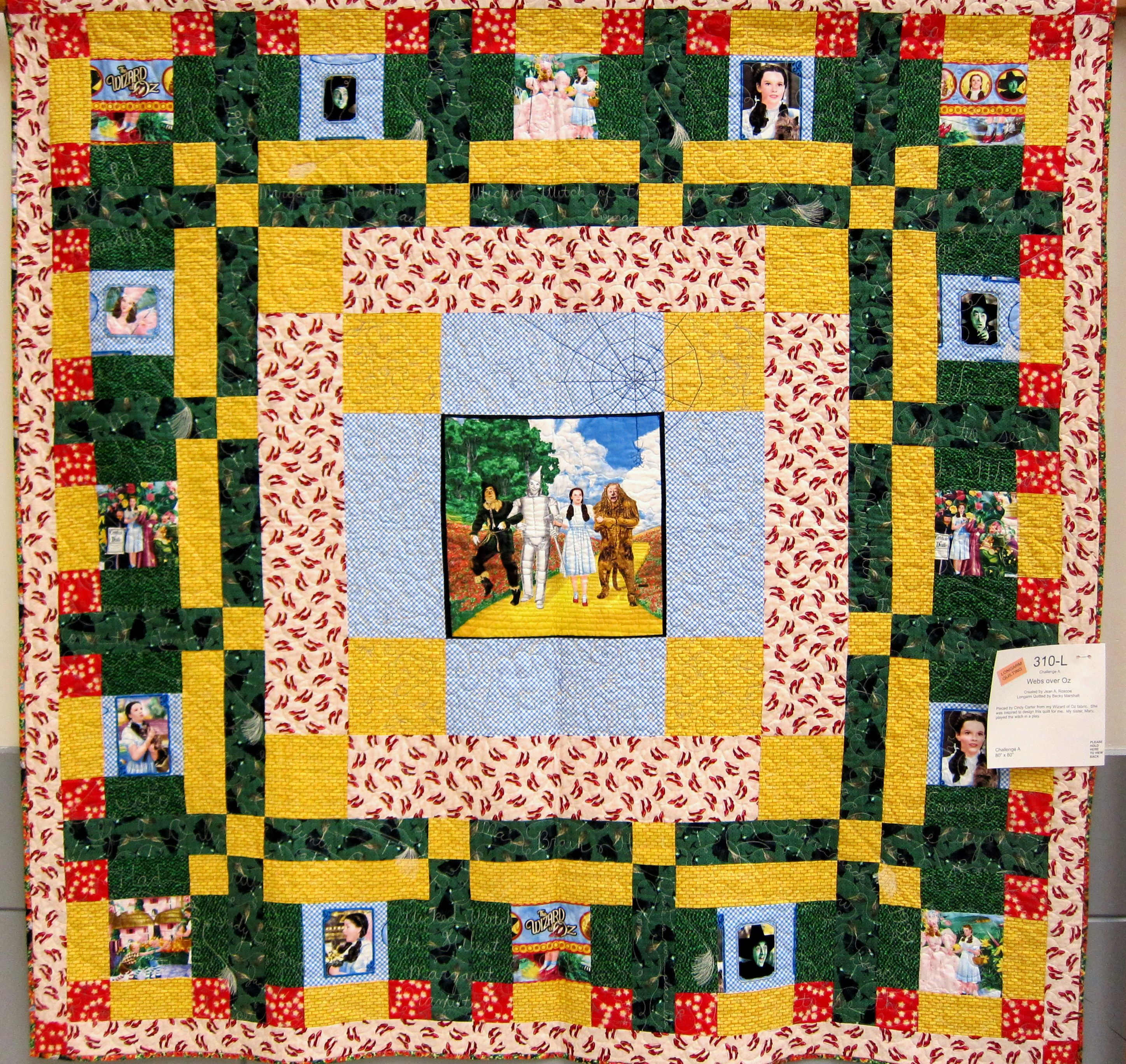 wizard of oz quilt | Quilt Made From Wizard of Oz Fabric ... : yellow brick road quilt pattern pdf - Adamdwight.com