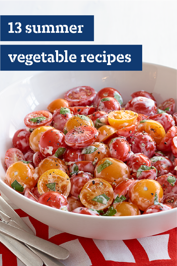 13 Summer Vegetable Recipes – Make use of your farmer's market haul with our collection of Summer Vegetable recipes! Summertime means heirloom tomatoes, giant zucchini squash, and rows and rows of green beans. Explore all the ways to cook and prepare the veggies of the season with these fresh side-dishes.