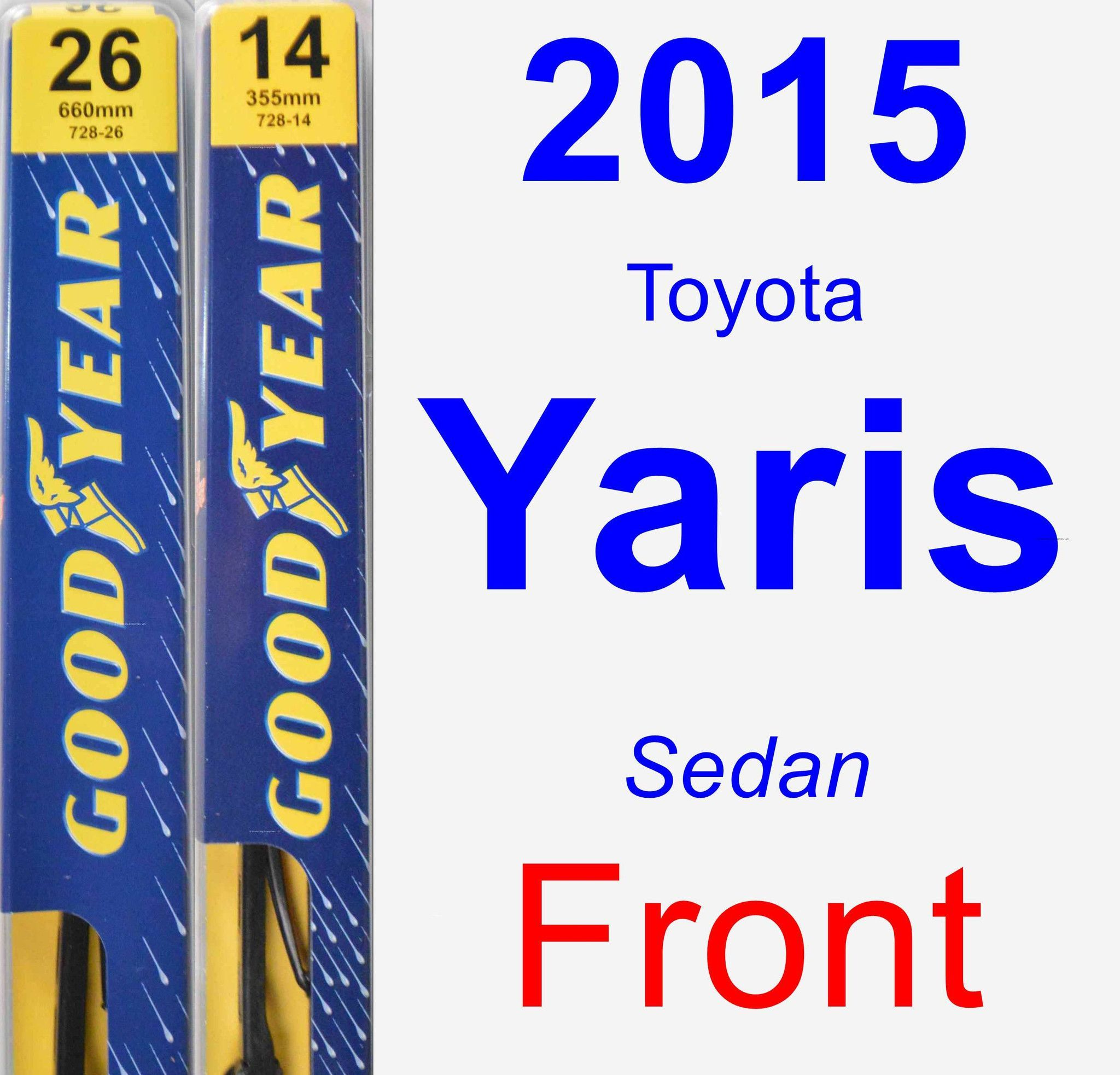Front Wiper Blade Pack for 2015 Toyota Yaris - Premium