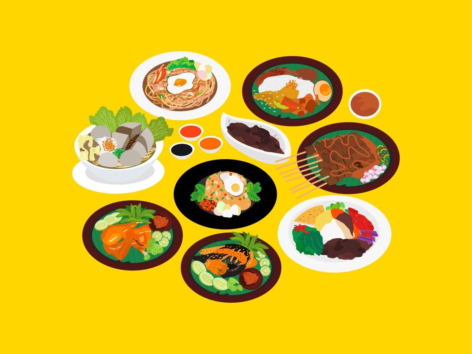 9 Most Popular Indonesian Food Indonesian Food Food Illustration Design Food Brand Logos