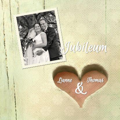 Huwelijksjubileum hart 25 jaar - Jubileumkaarten - Kaartje2go