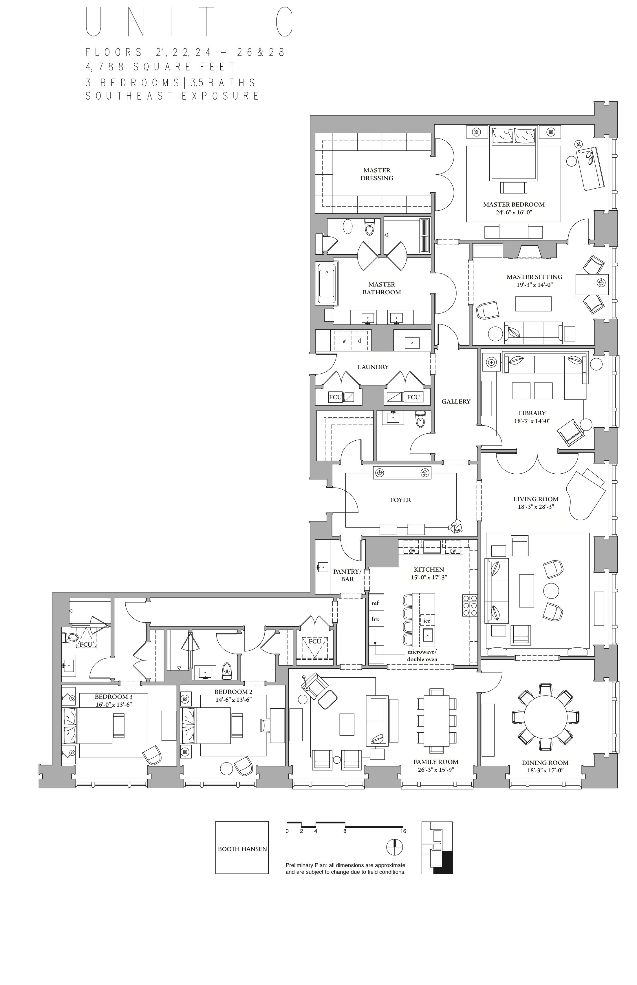 900 North Michigan Floor Plans Chicago, USA. Luxury