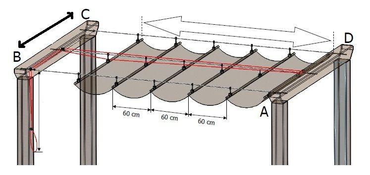 Extreem Afbeeldingsresultaat voor STOFFEN OVERKAPPING TERRAS ZELF MAKEN &BS66