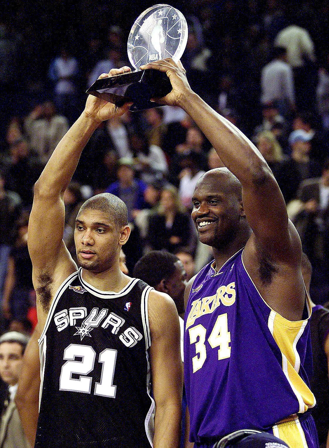 Tim Duncan San Antonio Spurs Shaquille O'Neal Los Angeles ...
