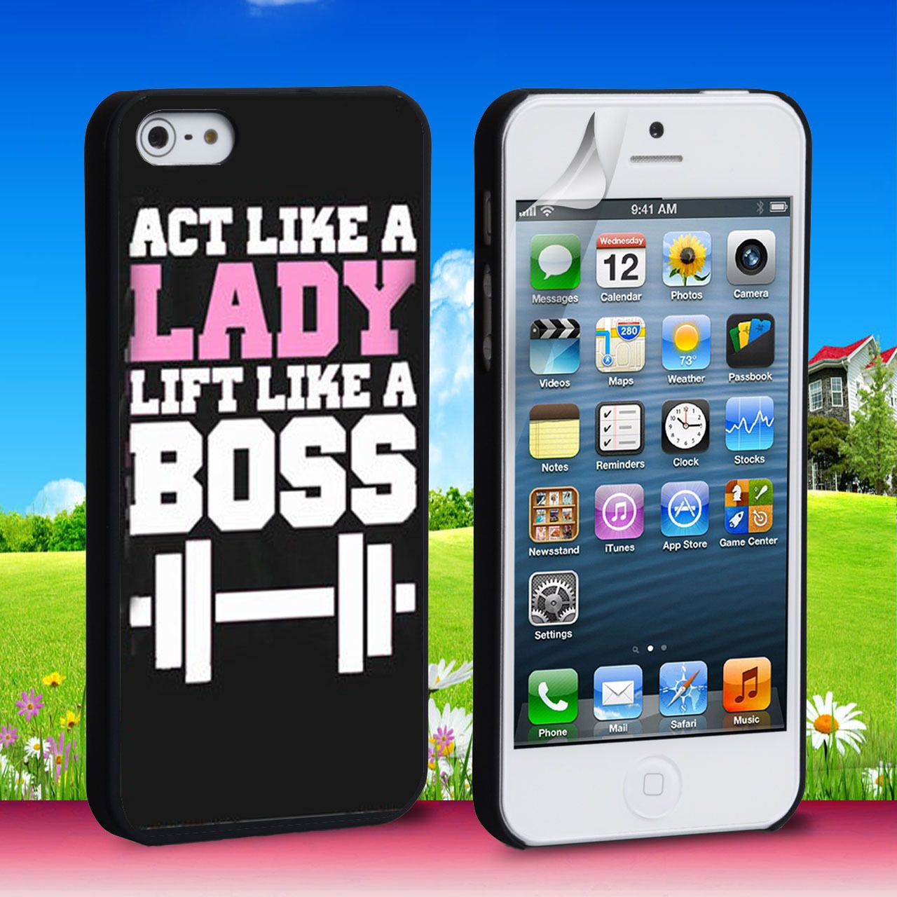 Act Like a Lady Lift Like a Boss iPhone 4 5 6 6 Plus Case