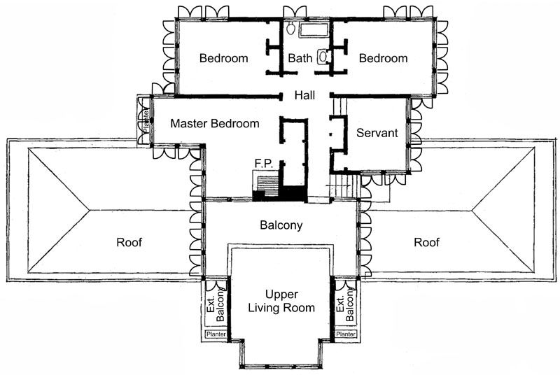 small frank lloyd wright house plans - google search