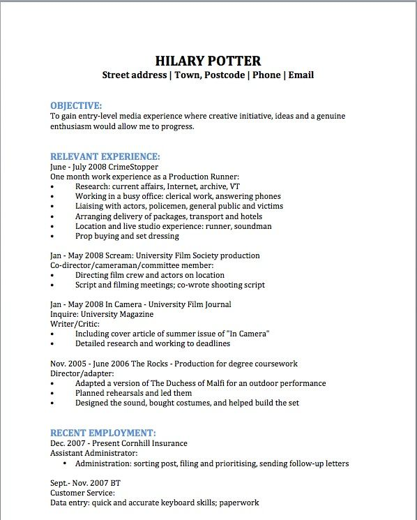 Film Production Assistant Resume Template -   wwwresumecareer - film crew resume template