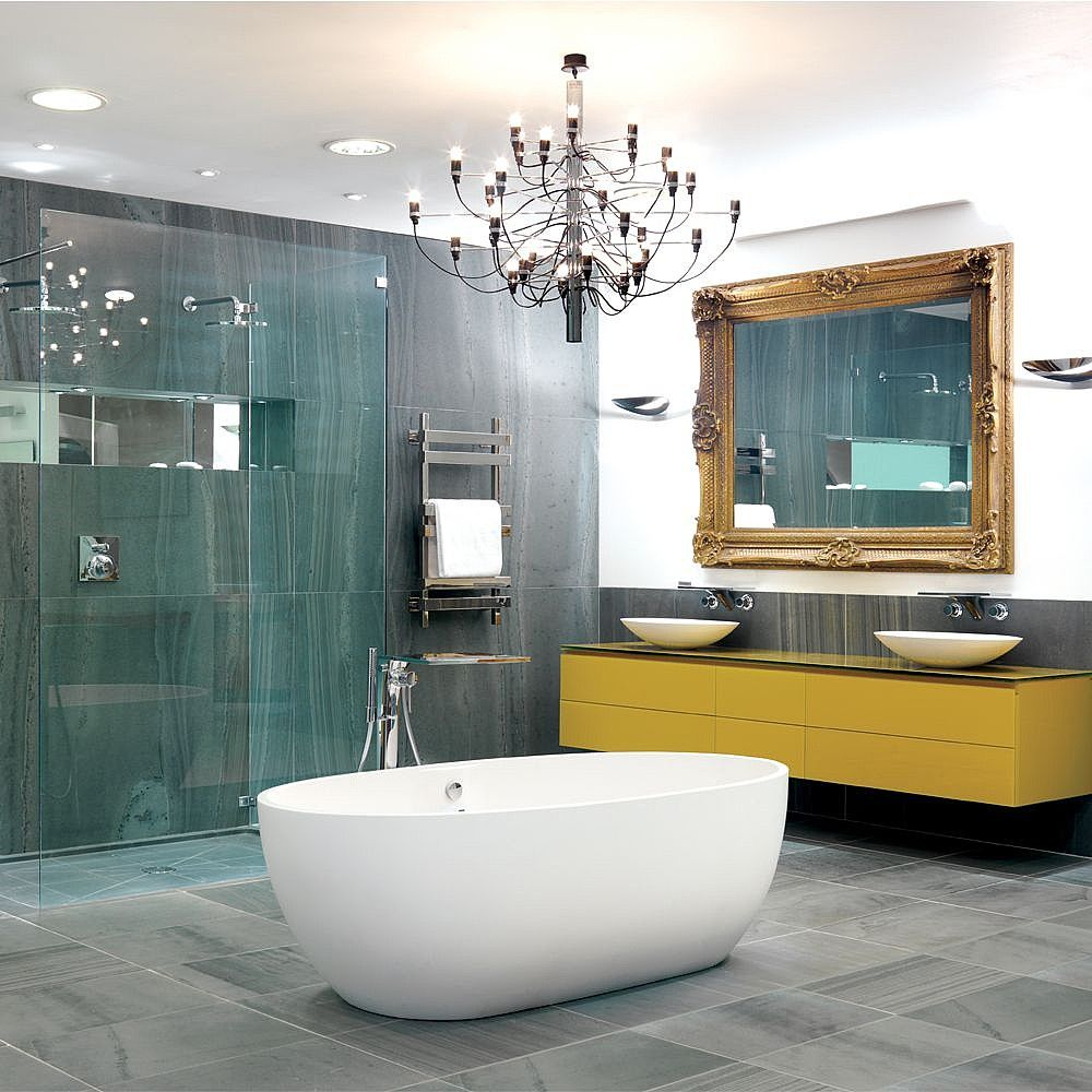 Bathroom showrooms canberra - At Our Waterloo Showroom The Pure Streamlined Design Of The Stone One Bath Stops
