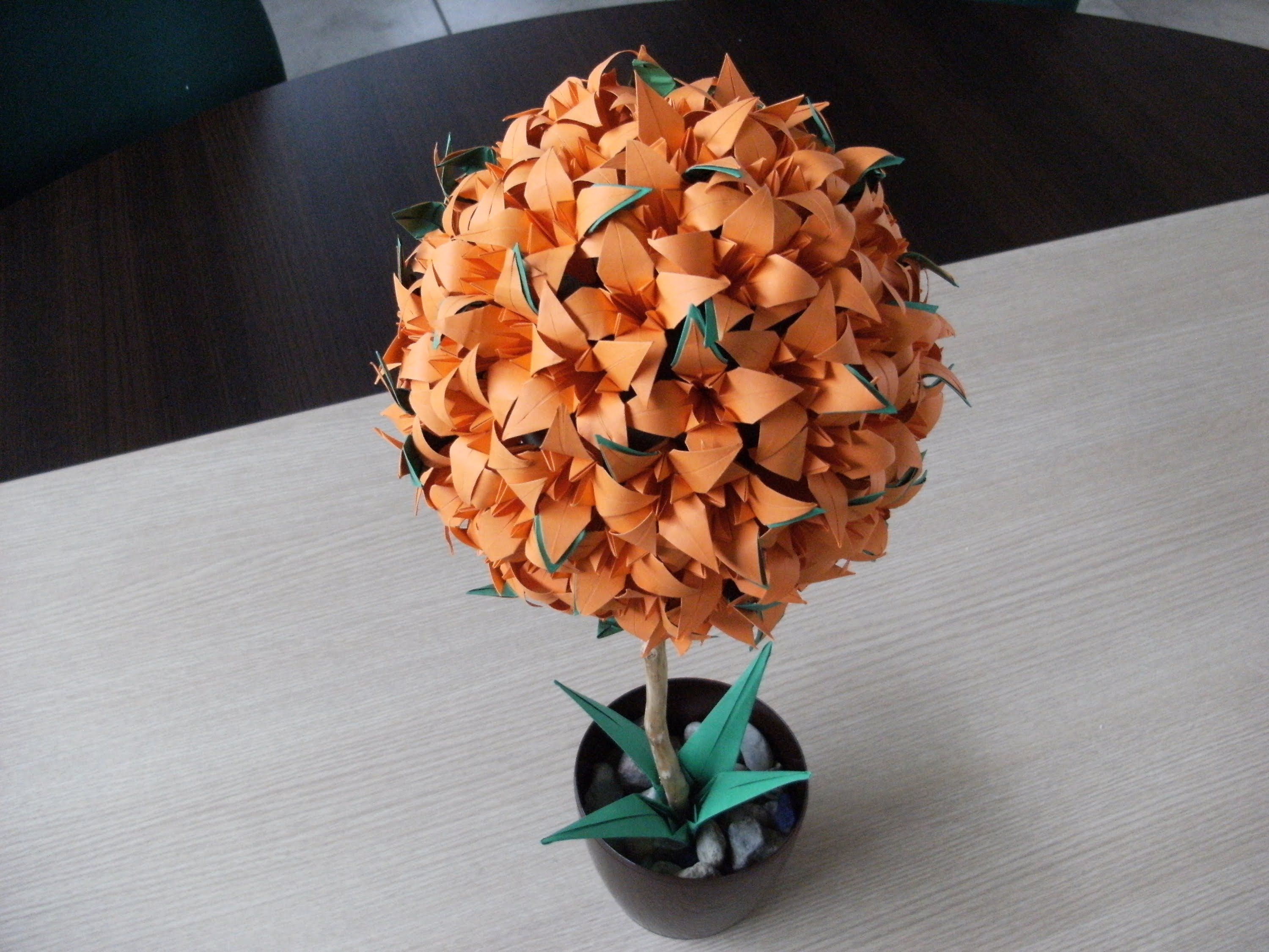 3D origami - flower ball - lily - iris - (how to make ... - photo#7