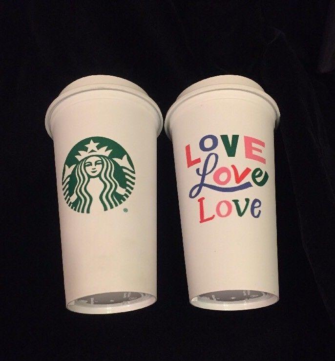 Starbucks Love Reusable Plastic Mug Usa Siren Mermaid