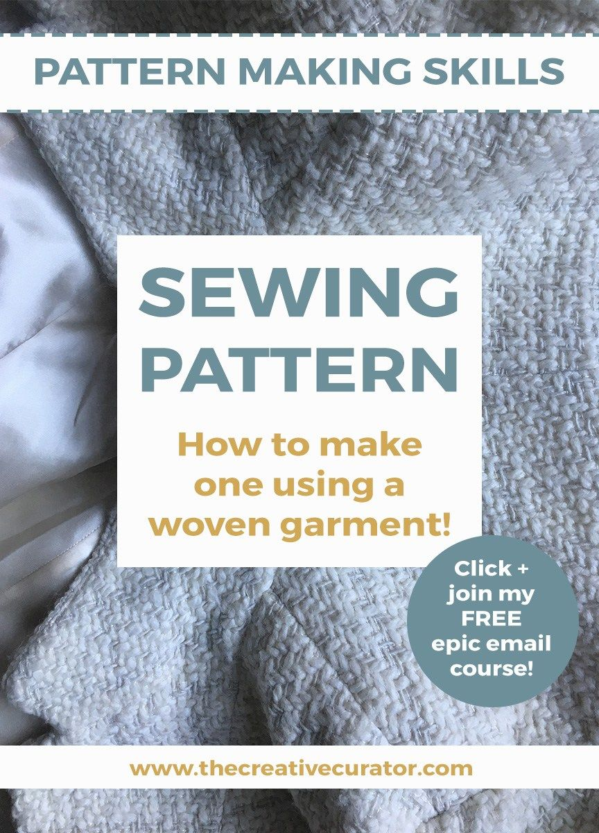 How To Make A Sewing Pattern: Using Woven Garments   Nähtipps