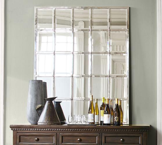 Eagan Multipanel Large Mirror Silver Mirror Wall Living Room Mirror Design Wall Mirror Wall Bedroom