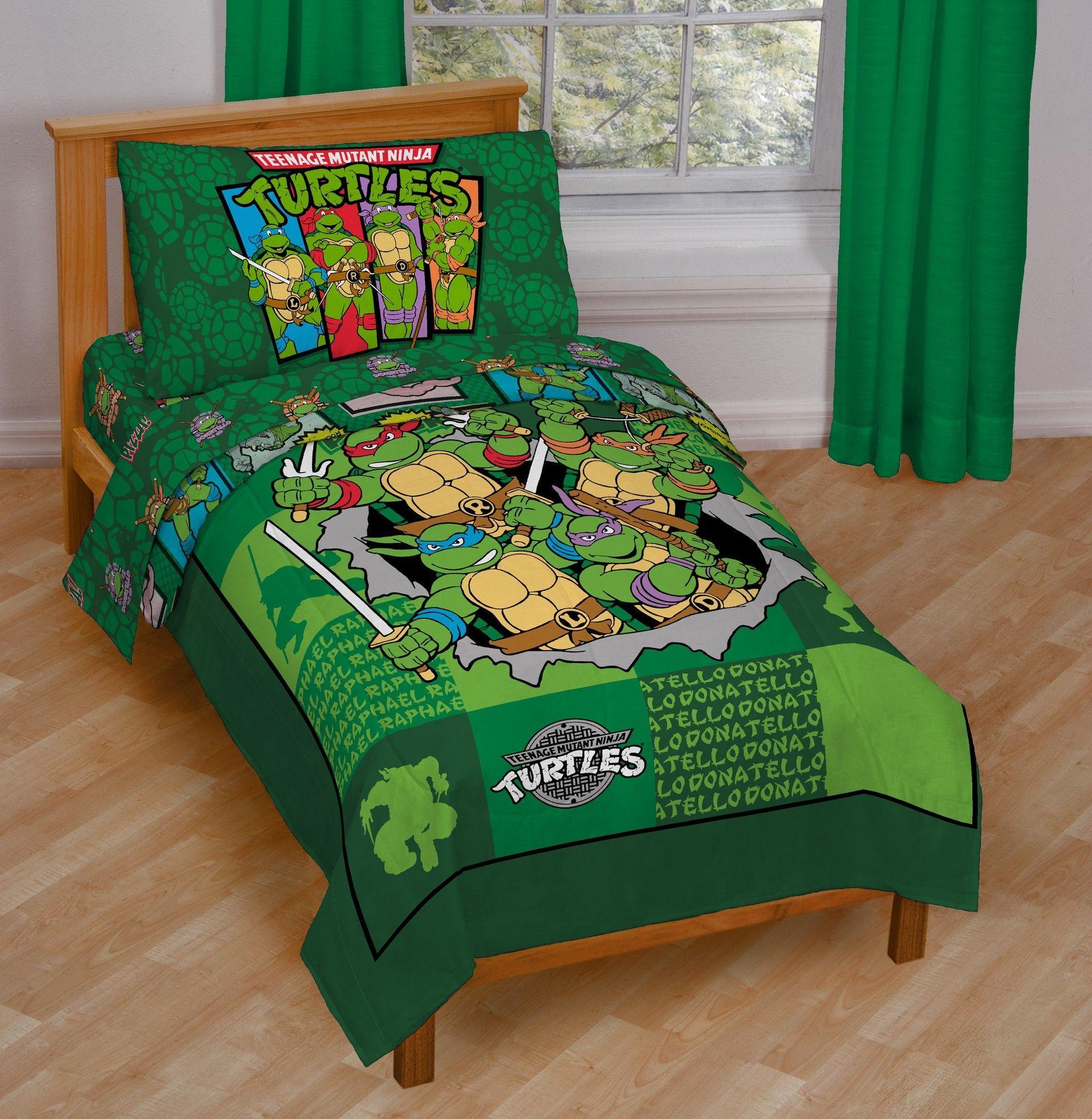 Nickelodeon Teenage Mutant Ninja Turtle Awesome Toddler Bedding Set Toddler Bed Set Ninja Turtle Bedroom Kids Comforter Sets