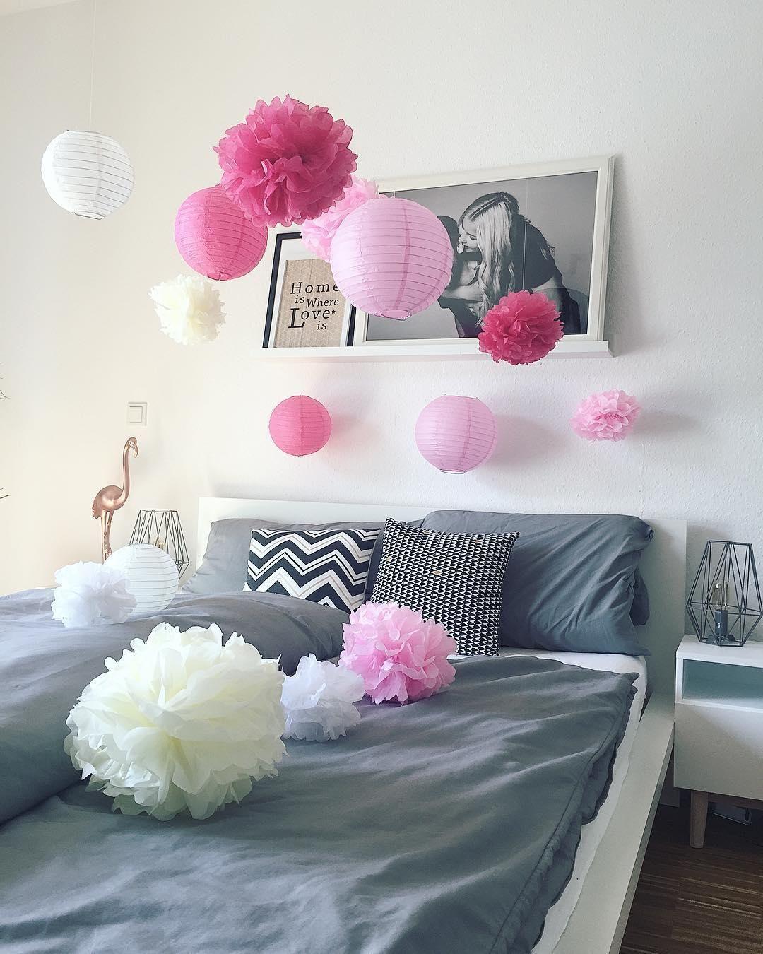 Deko Pompoms auch im schlafzimmer darf dekoration nicht fehlen verspielte deko
