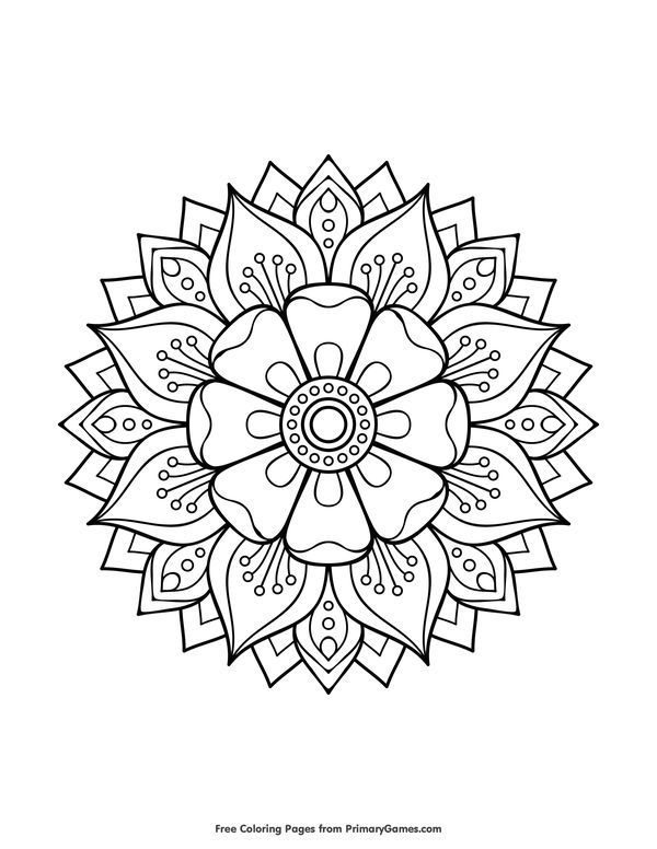 Mandala To Download In Pdf 9 Mandala To Download In Pdf 9 From The Gallery Mandalas Just Co Mandala Coloring Pages Mandala Coloring Flower Coloring Pages