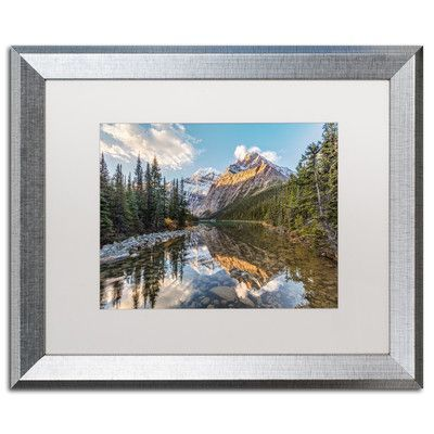 "Trademark Art ""Jasper National Park"" by Pierre Leclerc Framed Photographic Print Size: 16"" H x 20"" W x 0.5"" D"