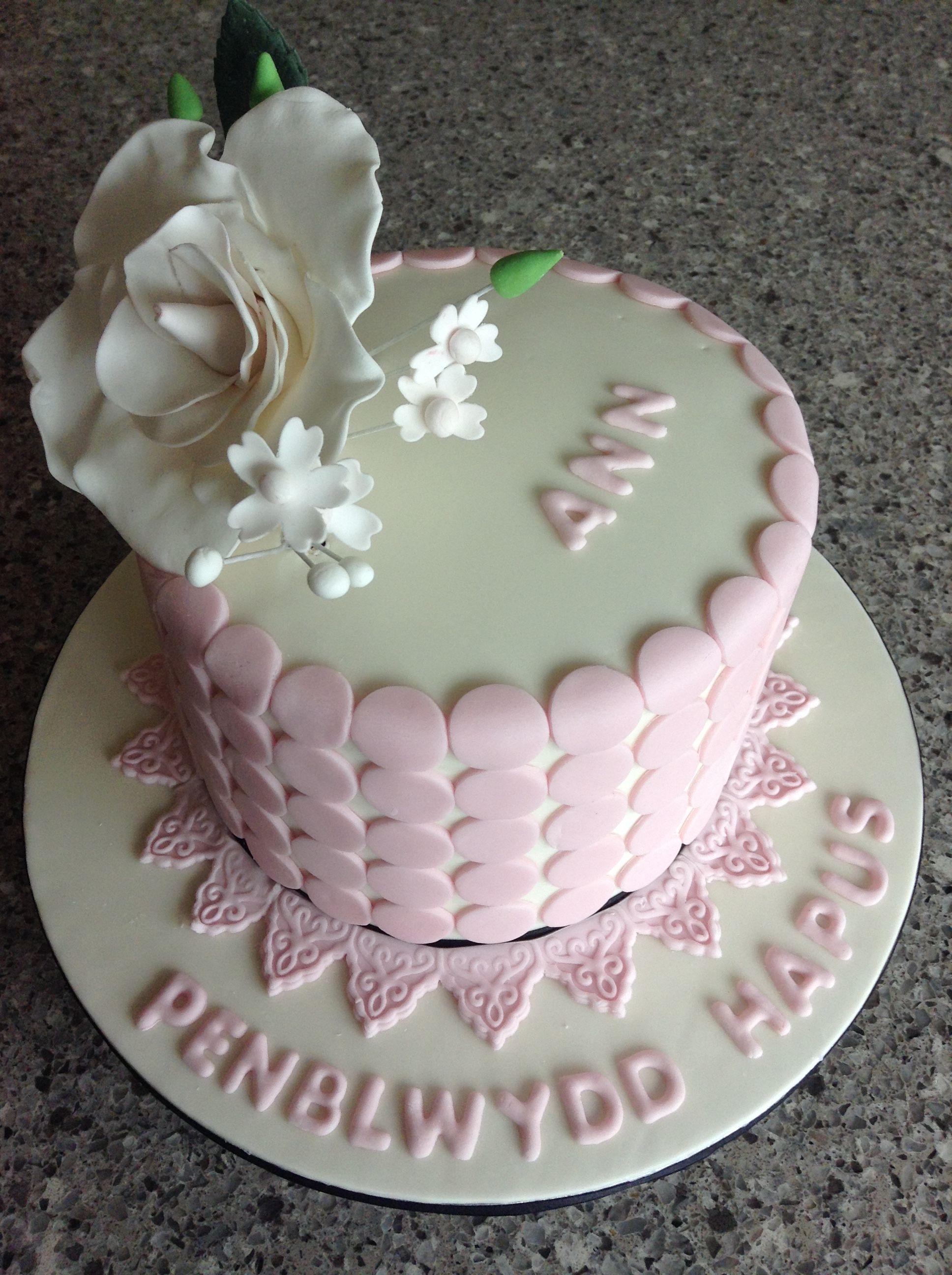 Cacen Penblwydd Ann 2016 Anns Birthday Cake 2016 My Cakes