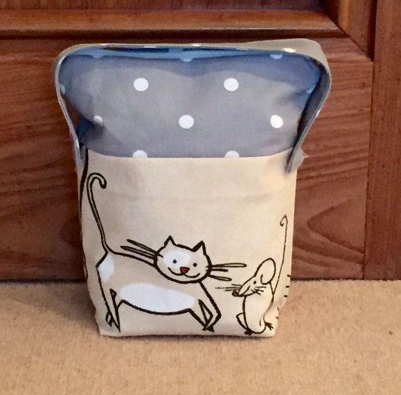 Door Stop Fabric doorstop lined door stopper handmade door stop cats cat and mouse door stop grey spot & Door Stop Fabric doorstop lined door stopper handmade door stop ... pezcame.com