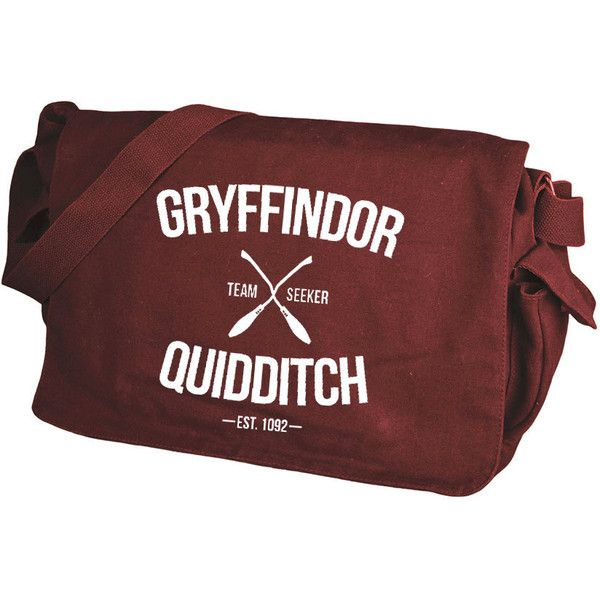 Gryffindor Quidditch Maroon Messenger Bag ($61) ❤ liked on Polyvore featuring bags, messenger bags, print messenger bag, pattern bag, pattern messenger bag and red messenger bag