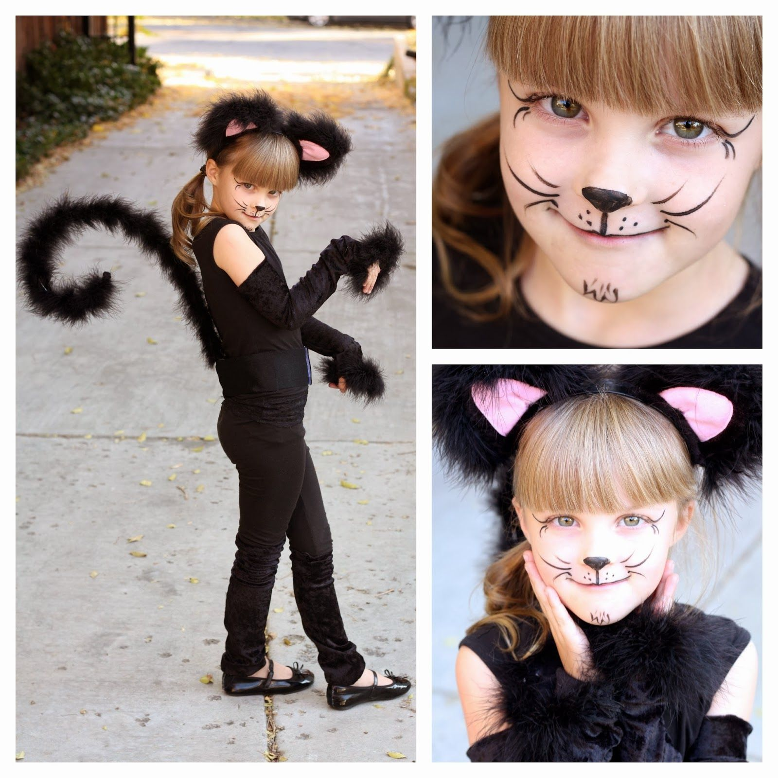 simple cat face painting ideas feather